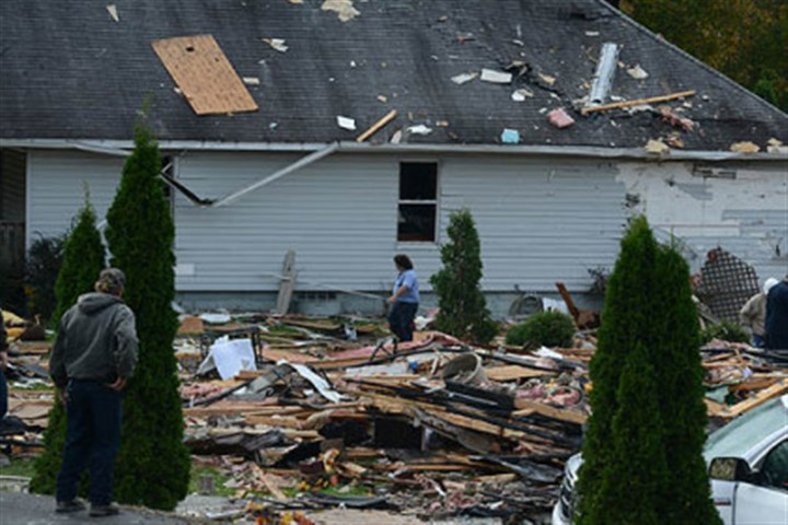 wva explode 4 An explosion caused extensive damage to some homes in Follansbee, W.Va., south of Weirton.