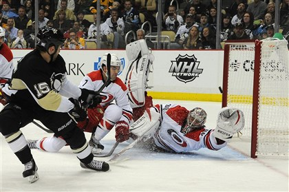 penguins1 Tanner Glass netted his lone goal of the season so far Oct. 8 against Carolina at Consol Energy Center.