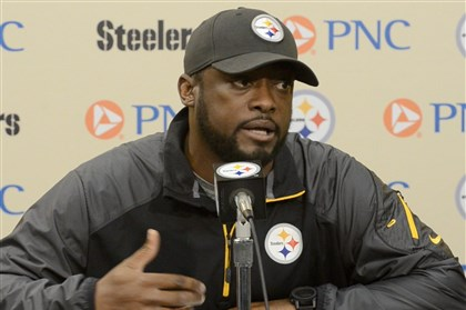tomlin Mike Tomlin at his weekly news conference Tuesday on the South Side.