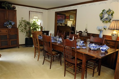 Dining room at Franklin Park The large dining room is perfect for family gatherings at the holidays.