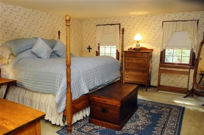 Bedroom at Franklin Park There are five bedrooms in the Colonial at 2356 Little Sewickley Creek.