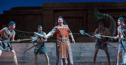 "Aida Carl Tanner as Radames in Pittsburgh Opera's production of ""Aida."""