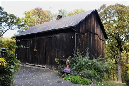 Centruy-old barn at Franklin Park A century-old barn on the property is large enough to be used as a three-car garage. At one point, it housed a Cessna plane.
