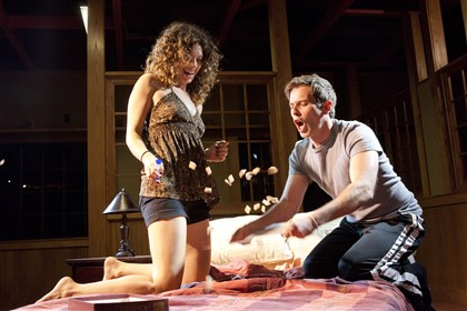 "quantum1031 Sarah Silk and Brendan McMahon star in Quantum Theatre's ""Parlour Song."""