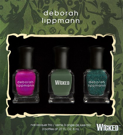 "Polish ""Wicked""-inspired nail polish trio, $29."