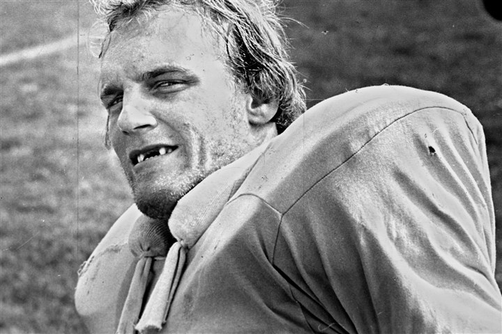 lambert0730 Jack Lambert, one of four Hall of Famers picked by the Steelers in the 1974 draft, poses for a picture in August 1978.