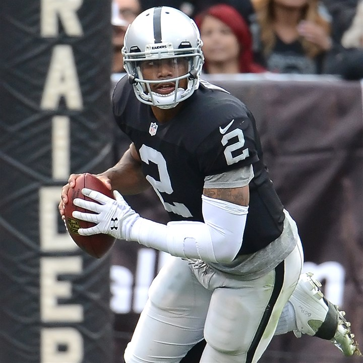 pryor1103 Raiders quarterback and Jeannette grad Terrelle Pryor is the latest player to gash the Steelers for a big play early in the game.