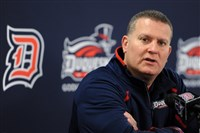 Duquesne basketball head coach Jim Ferry during a 2013 press conference.