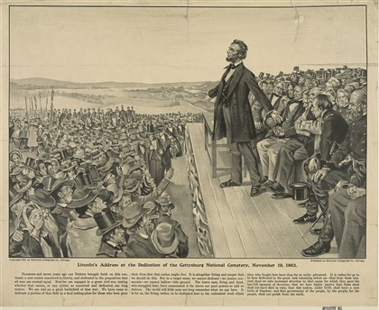 Lincolnsaddress Lincoln's address at the dedication of the Gettysburg National Cemetery, November 19, 1863