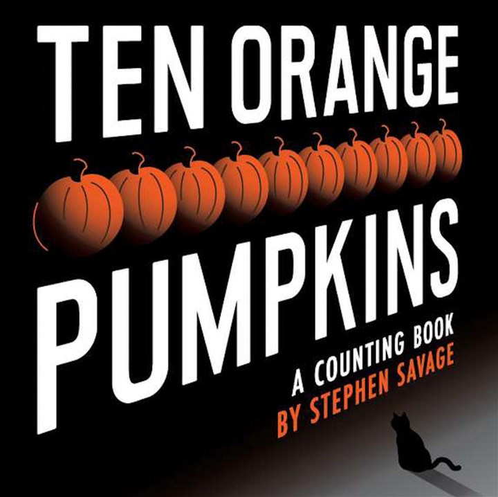 "CORNER1030 Author/illustrator Stephen Savage uses his considerable graphic design talents to create a unique Halloween counting book in ""Ten Orange Pumpkins."""