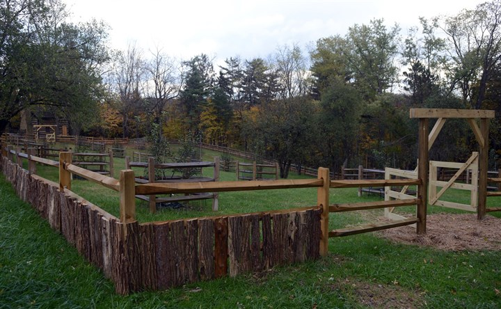 PittsburghBotanicGardenMag01 A fenced-in apple orchard at the Pittsburgh Botanic Garden.