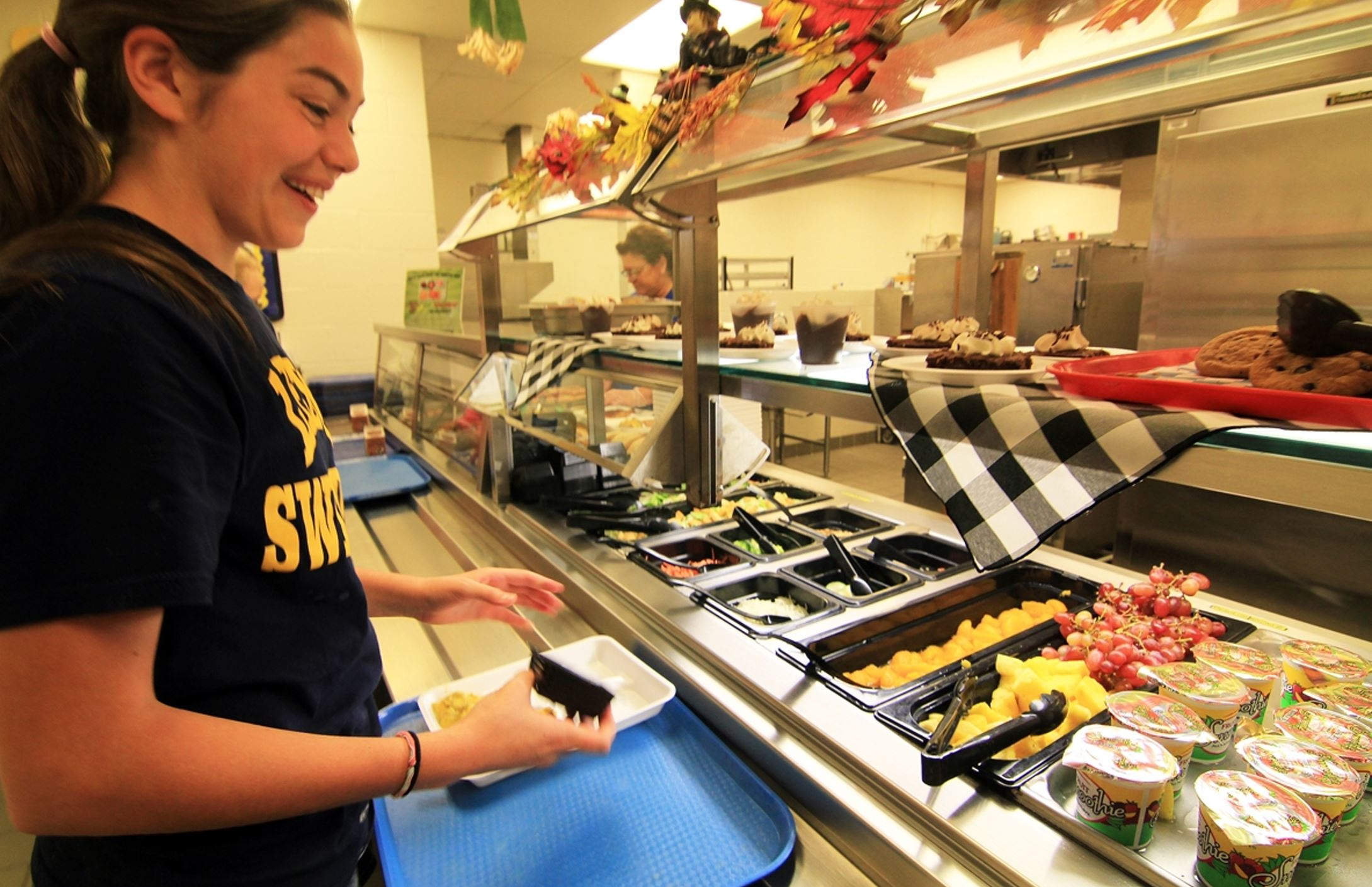 SchoolLunch A student in a Mt. Lebanon School District cafeteria.