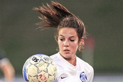 Central Valley Soccer Senior Katie Alexander has been one of Central Valley's top goal-scorers this season.