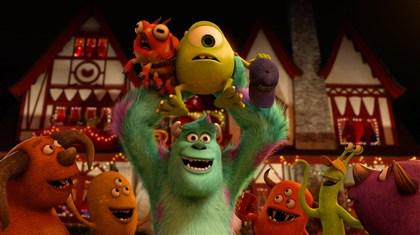 "Monsters ""Monsters University"" tells the story of how Sulley, center, voiced by John Goodman, and Mike, top, voiced by Billy Crystal, met in college."