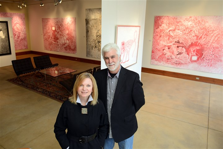 20131030lfGalleryMagazine01 James Frederick and Gayle Irwin, owners of James Gallery, renovated a century-old stable to create his West End art gallery.