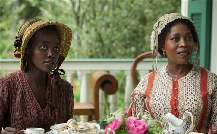 "12YearsaSlave Lupita Nyong'o and Alfre Woodard star in ""12 Years a Slave."""