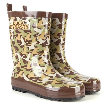 "duckseencamoboots ""Duck Dynasty"" kids camo boots."