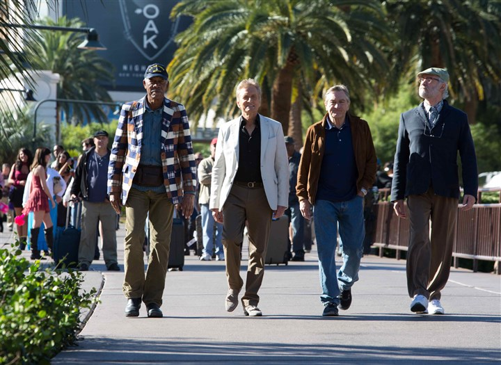 "LastVegas Morgan Freeman, Michael Douglas, Robert De Niro, and Kevin Kline star in ""Last Vegas."""