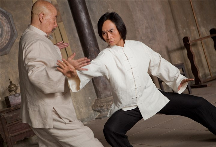 "ManofTaiChi1 Yu Hai, left, and Tiger Chen in ""Man of Tai Chi."""