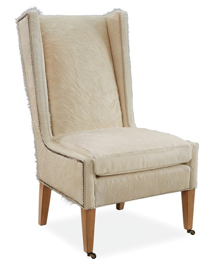 furry4-2 Serengeti chair by Lee Industries upholstered in hair on hyde.