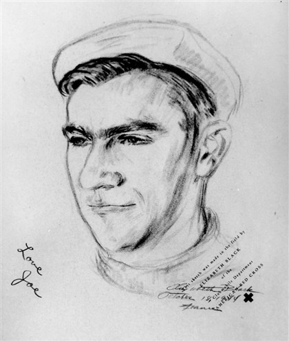 Joe Nemetz A sketch of Joe Nemetz sketch. His portrait was lost. It was presented it to his elderly widow, son, daughter in suburban Philadelphia.
