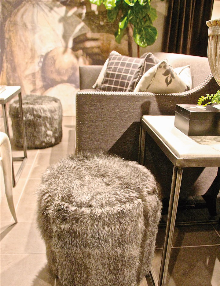 furry1-1 Ottomans by Bernhardt Furniture