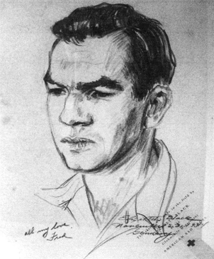Fred Harper A sketch of Fred Harper sketch. He was killed in action shortly after the sketch was done.
