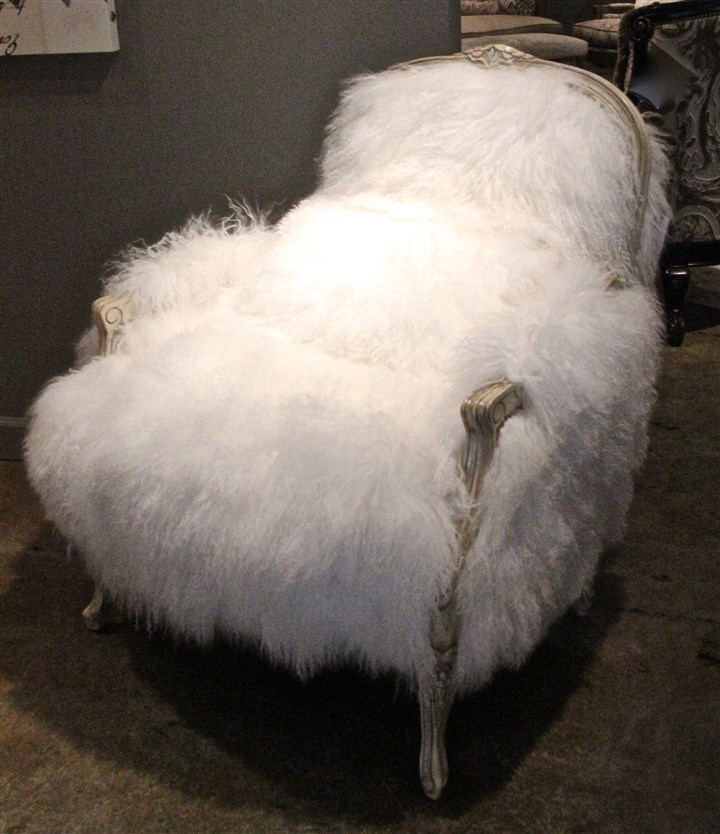 wooly10 Massoud's Tibetan sheep skin chair.