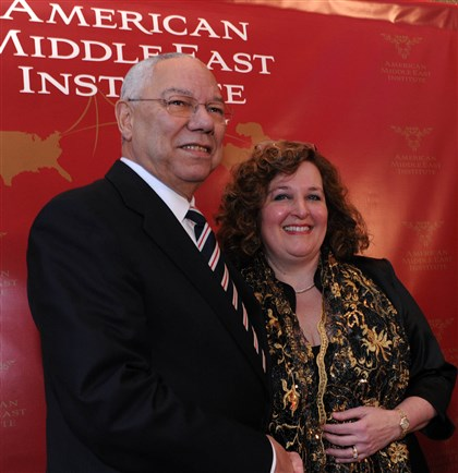 SEENPowell01 Gen. Colin Powell, and Simin Curtis.