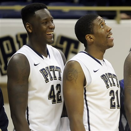 zannapatterson1104 Talib Zanna, left, and Lamar Patterson are Pitt's only two seniors this season.