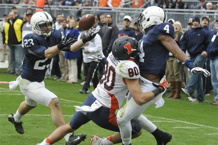 keiser1104 Penn State's Ryan Keiser (23) intercepts an Illinois pass at the goal line in overtime of Penn State's 24-17 win Saturday.