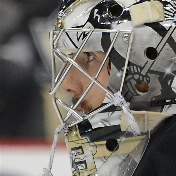 fleury1104b Penguins goalie Marc-Andre Fleury is off to one of the best starts in the NHL.