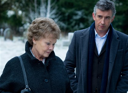 "Philomena1 Judi Dench and Steve Coogan star in ""Philomena."""