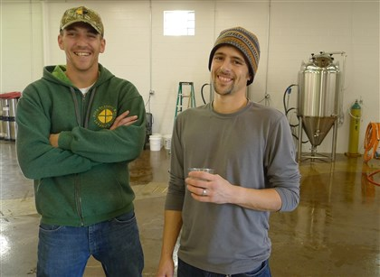 brewerFOOD Christian Simmons and head brewer Mark Pavlik at their new Four Seasons Brewing Co. near Latrobe.
