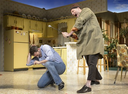"TheatreMag3-2 In Sam Shepard's ""True West,"" directed by Pamela Berlin at Pittsburgh Public Theater, Ken Barnett, left, and David Mogentale portray battling brothers."