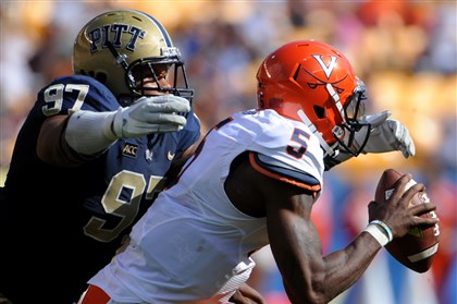 donald1125pittb Star defensive tackle Aaron Donald is one of many Pitt seniors happy to be bowl-eligible.