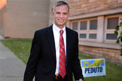 Candidate Josh Wander Pittsburgh mayoral candidate Josh Wander arrives at the polling place at Shaare Torah Synagogue in Squirrel Hill.