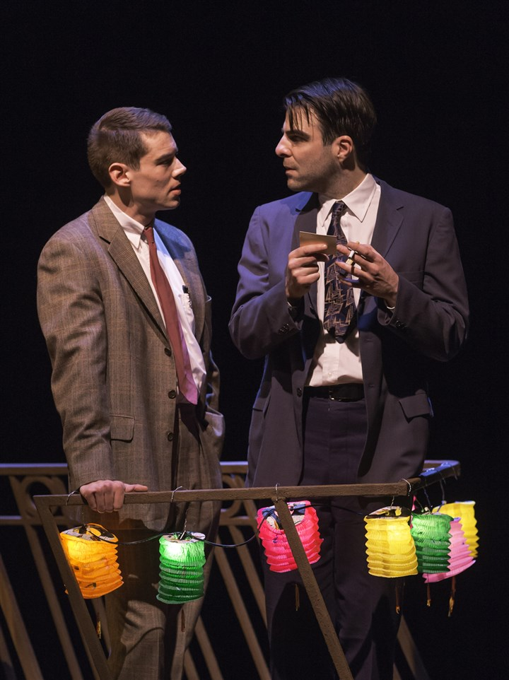 "Menagerie2 Brian J. Smith and Zachary Quinto in ""The Glass Menagerie."""