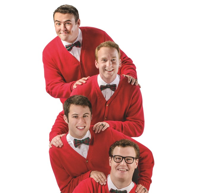 "Plaid Tidings From top: Quinn Patrick Shannon, Jim Hogan, Brandon Lambert and Billy Hepfinger star in ""Plaid Tidings"" for CLO Cabaret, opening Thursday and running through Jan. 12."