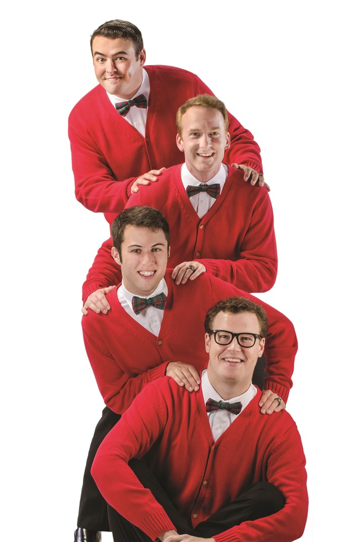 "'Plaid Tidings' From top, Quinn Patrick Shannon, Jim Hogan, Brandon Lambert and Billy Hepfinger portray the Plaids in CLO Cabaret's ""Plaid Tidings,"" running through Jan. 12."