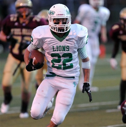 South Fayette Football South Fayette senior running back Grant Fetchet has gained 1048 yards rushing this season.