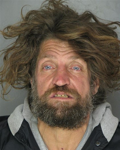 homelessarrest_116.jpg Jeffrey Watson, 48, the homeless man arrested after he was found sleeping in the Omni William Penn Hotel last night.