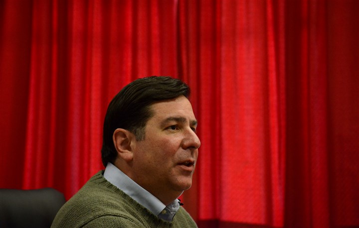 20131106lfElectionLocal01 Mayor-elect Bill Peduto talks to reporters at the City-County Building last week.