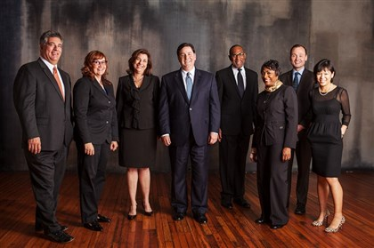 Bill Peduto's cabinet Photo of Bill Peduto's cabinet from the transition team's website, www.ournewpittsburgh.com