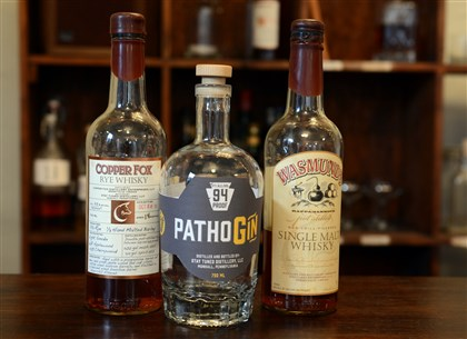 DistillMag05-4 Patho Gin, center, is the creation of Lee Ann Sommerfeld and Peter Streibig, owners of Stay Tuned Distiller.