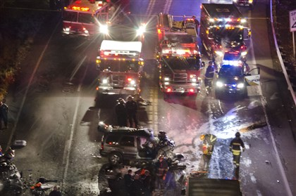 Football Players Fatal Crash Rescue crews from four departments respond to a deadly two-vehicle crash Friday along the Shenango Valley Freeway in Sharon.