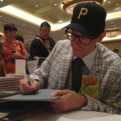 "edpiskor.jpg Cartoonist Ed Piskor says he used a comic book format because he wanted to give his audience a ""big cool object."""