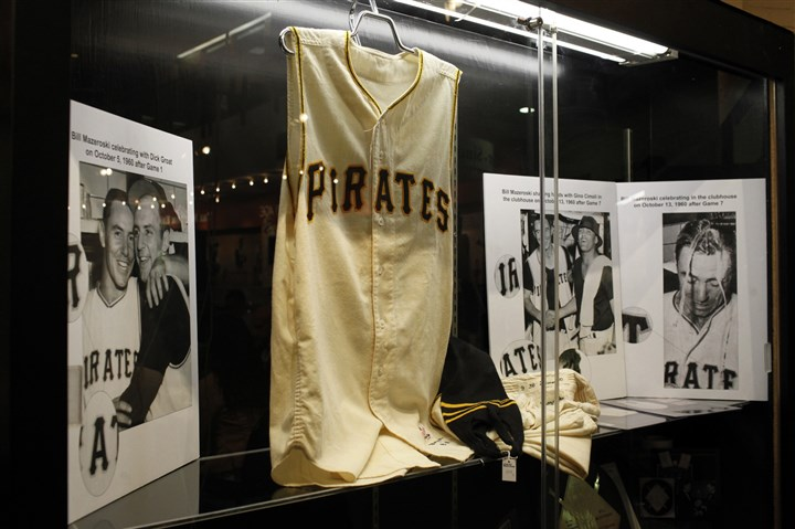 home uniform, worn by the Pirates' Bill Mazeroski This home uniform, worn by the Pirates' Bill Mazeroski in the 1960 World Series Game 7, sold for $632,500 during the Louisville Slugger Museum & Factory Live Auction on Saturday.