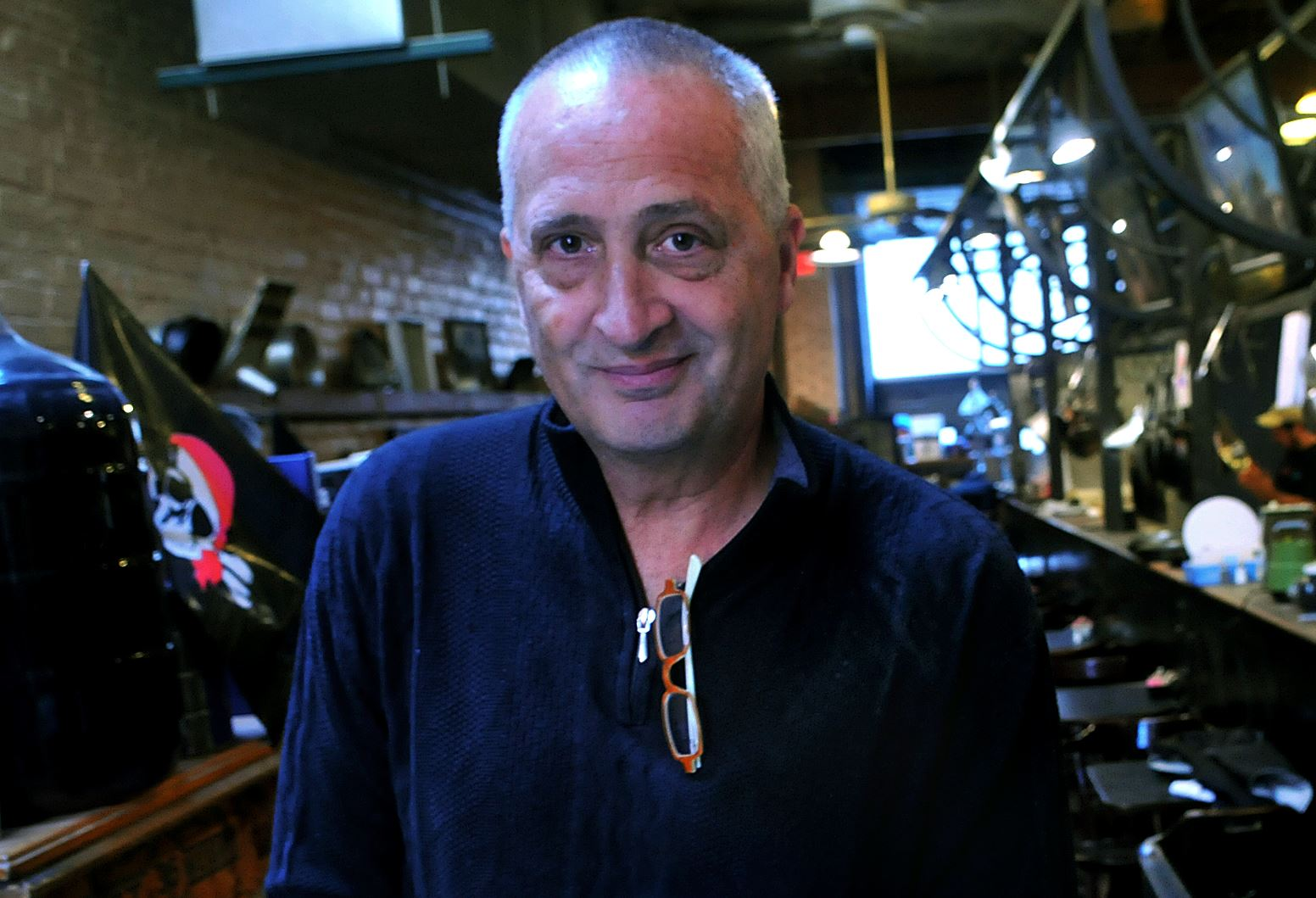 lagattutafood01 Larry Lagattuta poses at Enrico Biscotti.