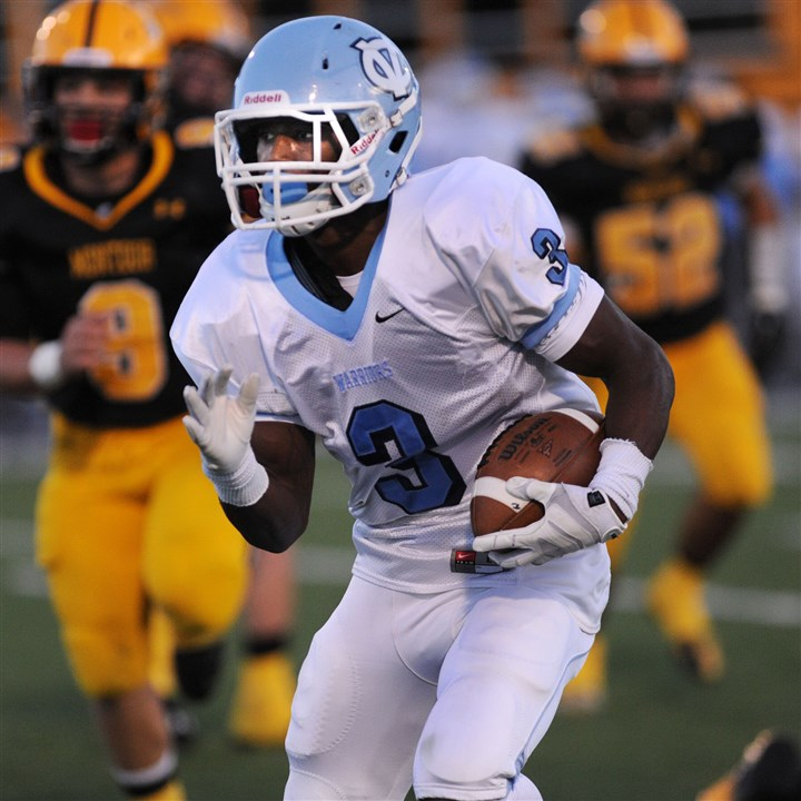 9ig00knt.jpg Jordan Whitehead is a threat for the Central Valley offense whether he lines up at running back or wide receiver.